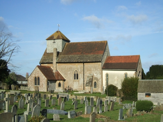 External view of the parish church of St John the Baptist, Clayton