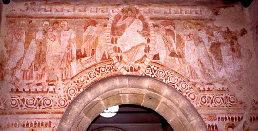 One of the murals uncovered in Clayton parish church