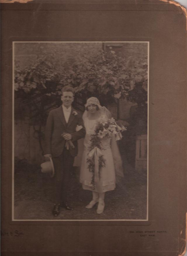 My Nan, Minnie Louisa Roe and my Grandad, George John Londors, on their wedding day in 1925