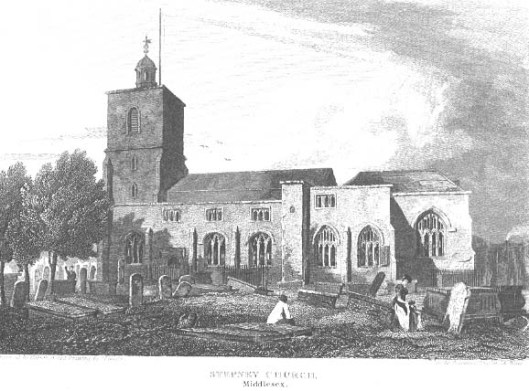 St Dunstan's church and burial ground, Stepney