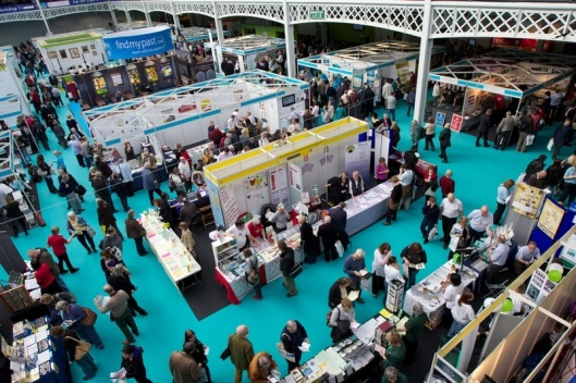 Crowds at the annual 'Who do you think you are?' exhibition at the NEC