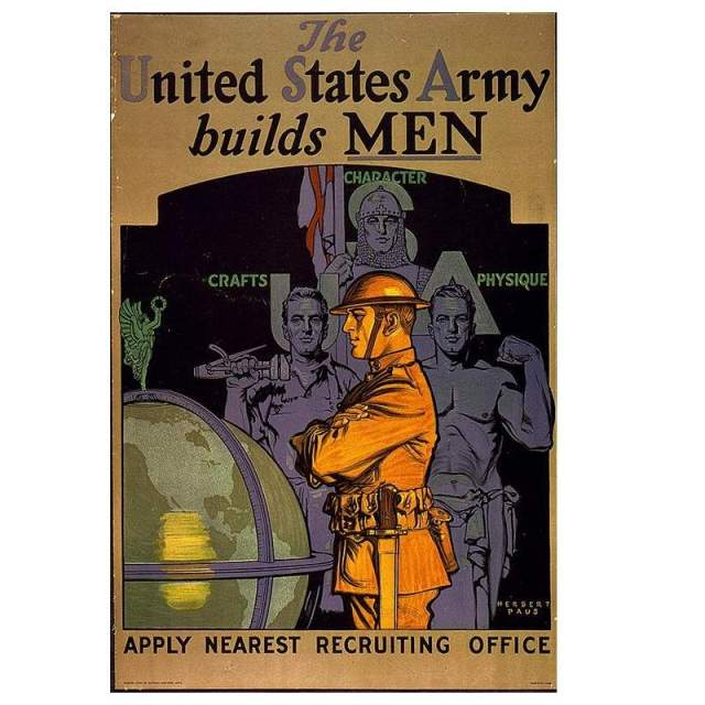 An image of masculinity from a WW1 propaganda poster (via www.nationaljournal.com)